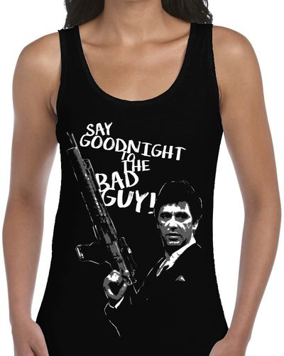 Classic Movie: Scarface - Ladies Black Vest