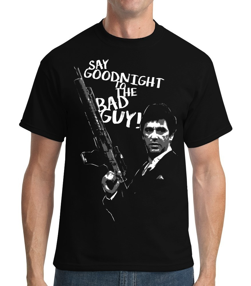 Classic Movie: Scarface - Mens Black Tee Shirt