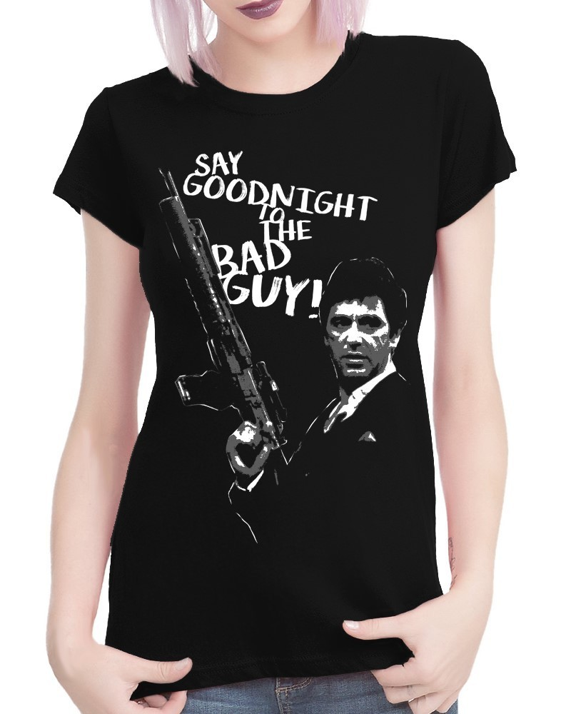 Classic Movie: Scarface - Ladies Black Tee Shirt