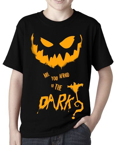 "Halloween: Pumpkin ""Afraid of the Dark"" - Childs Black Tee Shirt"