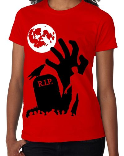 "Halloween: Zombie ""RIP"" - Childs Red Tee Shirt"
