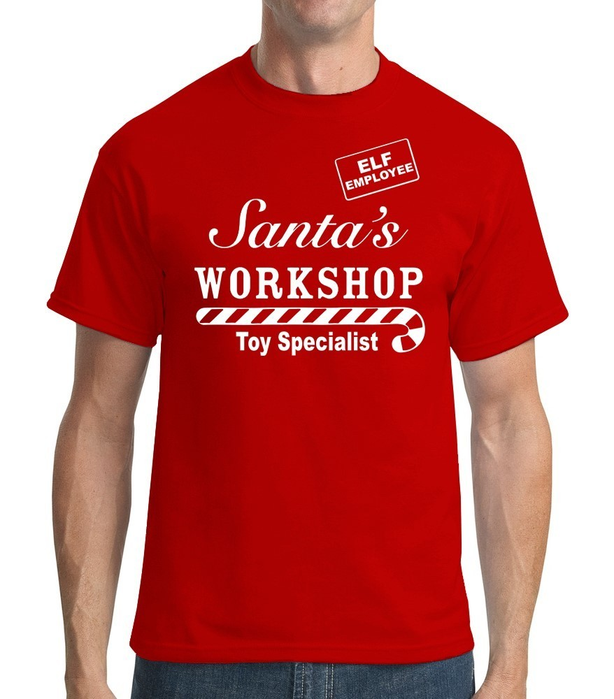 Santas Workshop Toy Specialist Employee - Mens Red Tee Shirt