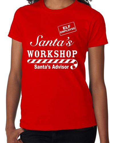 Santas Workshop Advisor Employee - Childs Red Tee Shirt