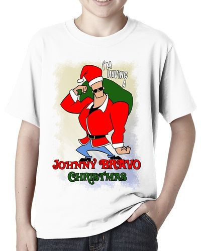 Im having a Johnny Bravo Christmas - Childs White Tee Shirt
